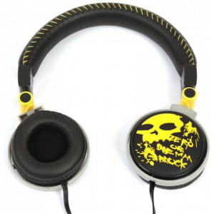 """Headphones Freestyle ScullStyle FH0033  Yellow-Black, 4pin * 3.5 mm jack, Microphone -     http://www.sklep.platinet.pl/FREESTYLE-HEADPHONE-STYLE-FH0033-MIC-YELLOW-41813(4,16009,13509).aspx"""