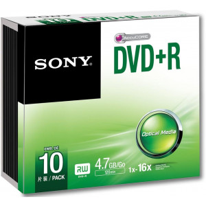 DVD-R SONY 4,7GB / 16x / Slim / 10 pcs