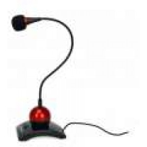 Esperanza EH130 (EA130), Chat Desktop Microfone with Switch on/off, Black/Red