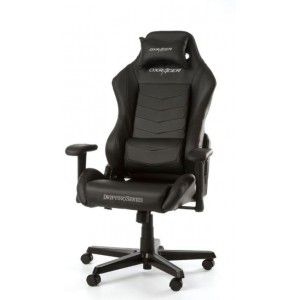 Performance Chairs DXRacer - Drifting GC-D166-N-M3, Black/Black/Black - PU leather, Gamer weight up to 100kg / growth 145-175cm, Foam Density 52kg/m3, 5-star Aluminum IC Base, Gas Lift 4 Class,Recline 90*-135*,Armrests: 3D,Pillow-2,Caster-2*PU,W-24kg