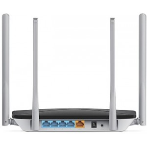 MERCUSYS AC12  AC1200 Dual Band Wireless Router,  867Mbps at 5GHz + 300Mbps at 2.4GHz, 1 10/100M WAN + 4 10/100M LAN, 4 fixed antennas