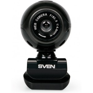 Camera SVEN IC-305, Microphone, 0.3Mpixel - 8Mpixel, UVC, USB2.0, Black